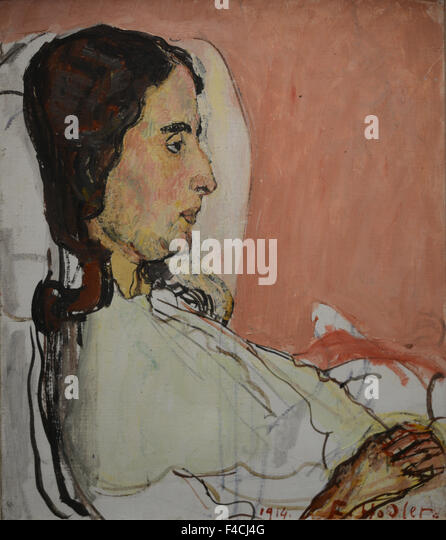 Ferdinand Hodler - Madame Valentine Godé-Darel malade - 1914 - Orsay Museum - Paris - Stock Image