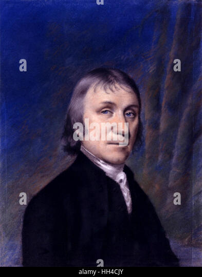 Joseph Priestley, 18th-century English theologian, clergyman, philosopher, circa 1794 - Stock-Bilder