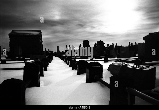 Cemetary Queens New York - Stock Image