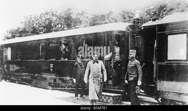 1 F67 F1914 10 Franz Ferdinand arrives in Sarajevo 1914 Franz Ferdinand Archduke Austria Hungarian heir to the throne - Stock Image