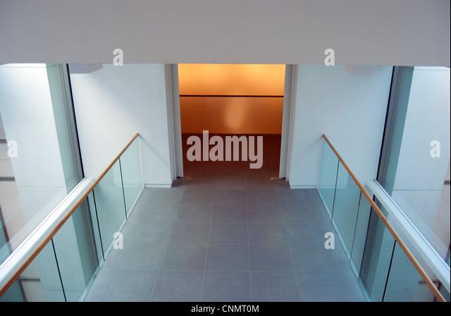 Corridor, Saatchi Gallery, London - Stock Image