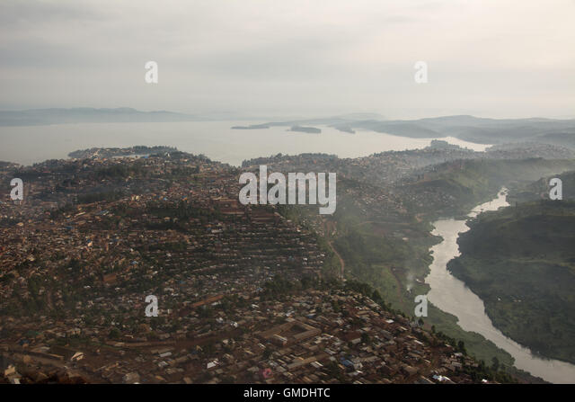 Bukavu City, South Kivu Province, Democratic Republic of the Congo. - Stock-Bilder