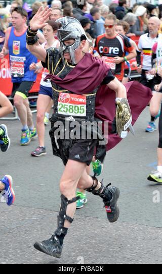 London, UK. 24th April, 2016. The Virgin London Marathon Fun and charity runners Credit:  Leo Mason sports photos/Alamy - Stock Image