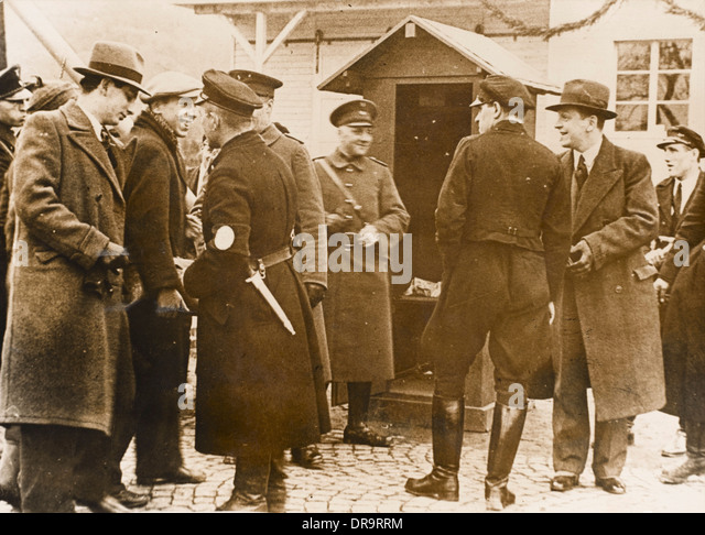German-French Customs Post 1930s - Stock Image