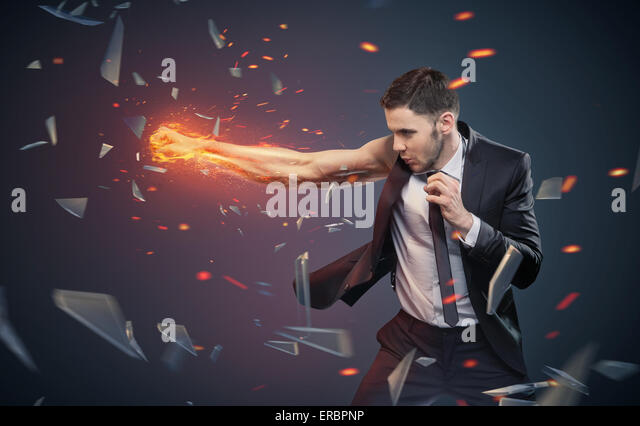 Conceptual photo of an ambitious employee - Stock Image