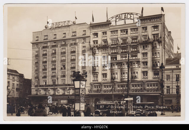 Hotels Palace & Albert 1er, Place Rogier, Brussels, Belgium - Stock Image