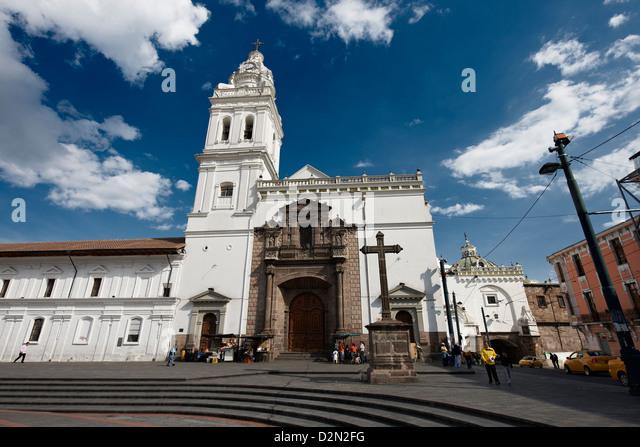 Santo Domingo Monastery and Church and Plaza, Quito, Ecuador - Stock Image