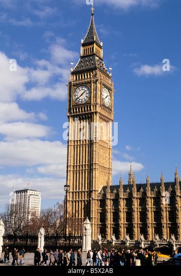 Europe London Parliament Square Big Ben England - Stock Image