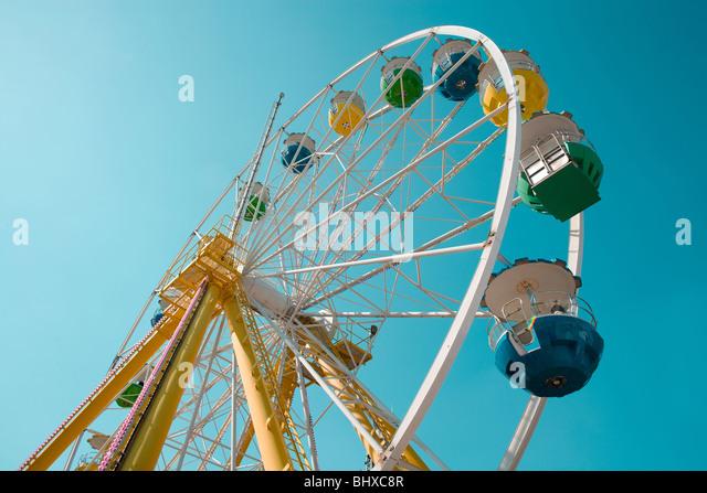 Ferris Wheel at amusement park - Stock Image