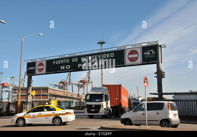 Puerto do Montevideo Uruguay - Stock Image