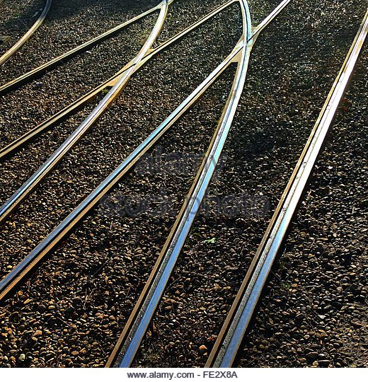Full Frame Shot Of Railway Tracks - Stock-Bilder