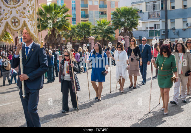 Easter Religious Parade Estepona Spain - Stock Image