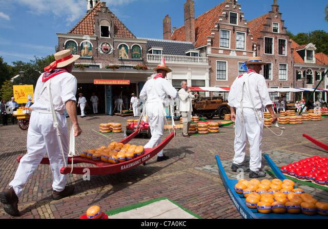 Edam Cheese Market - Stock Image