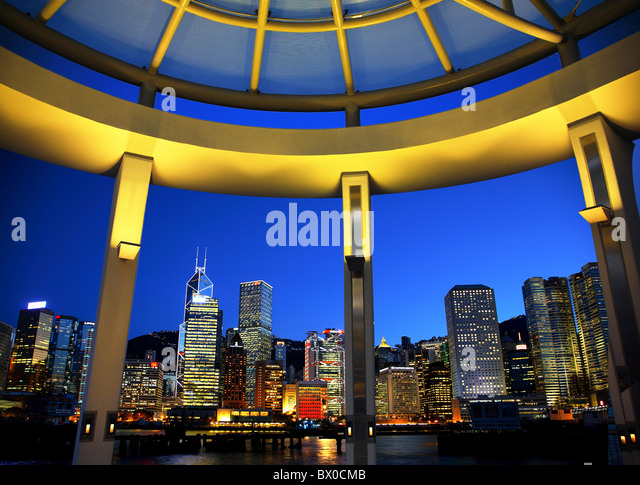 Skyscrapers in Central District, Hong Kong, China - Stock Image