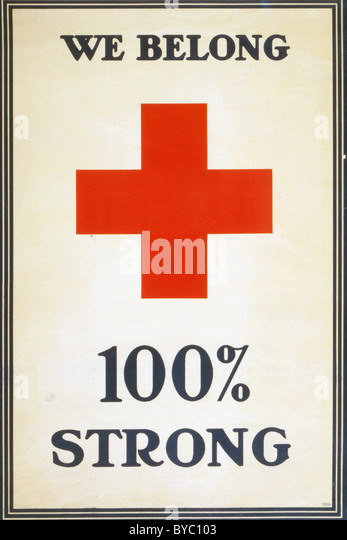 We belong 100% strong ww1 poster - Stock Image