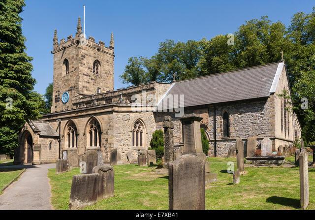 England Derbyshire, Eyam church - Stock Image