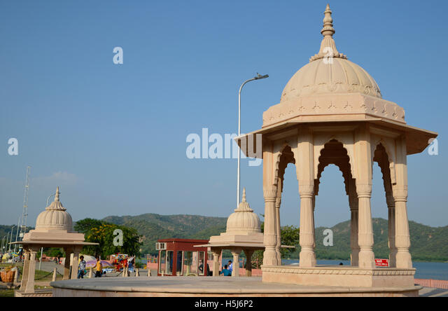 Dome with Rajasthan landscape - Stock-Bilder
