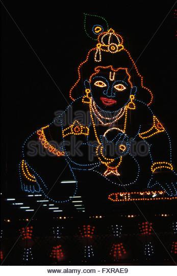Krishna, Guruvayoor, Kerala. - Stock Image