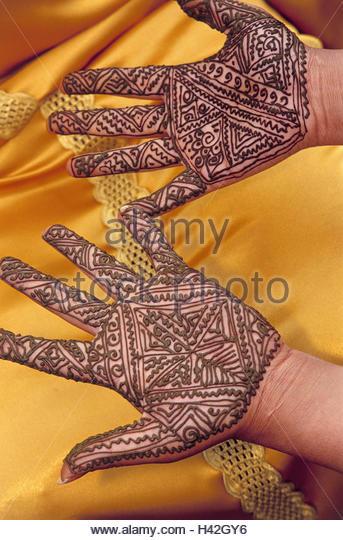 Mehndi Henna Mix : Henna tattoo hands stock photos