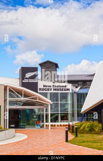 New Zealand Rugby Museum, Palmerston North, New Zealand. - Stock Image