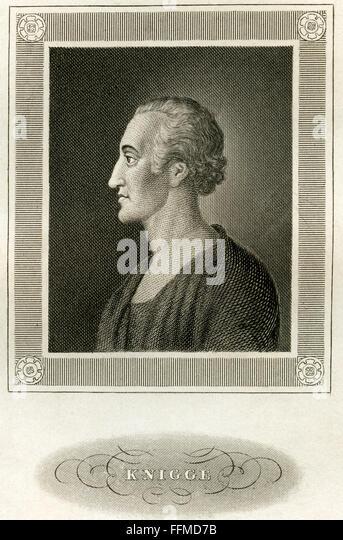 Adolph Baron Knigge, circa 1850 - Stock-Bilder