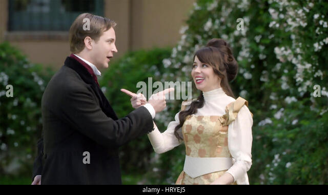 ANOTHER PERIOD Comedy Central TV series with Natasha Leggero and Michael Welch - Stock Image