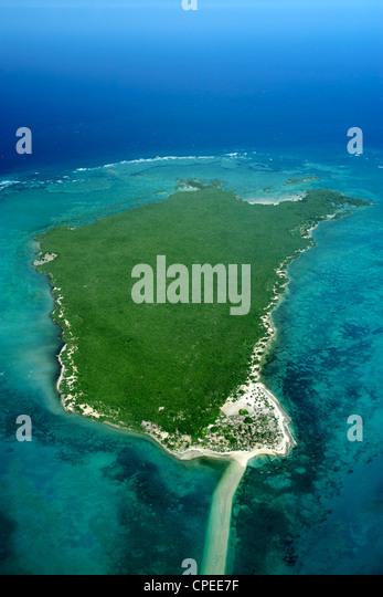 Quisiva island in the Quirimbas archipelago off the coast of Mozambique. - Stock Image