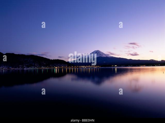 Mt.Fuji And Evening Glow - Stock Image