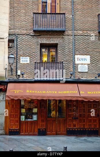 Botin restaurant, the world's oldest restaurant, Madrid, Spain - Stock-Bilder