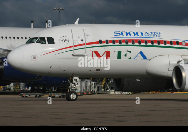 MEA LEBANON A320 5000TH - Stock Image