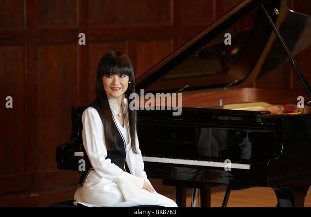 Japanese pianist Chie Ishii, Koblenz, Rhineland-Palatinate, Germany, Europe - Stock-Bilder