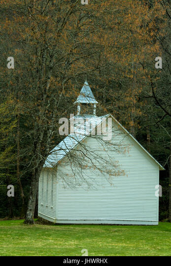 Palmers Chapel, Cataloochee Cove, Great Smoky Mountains National Park - Stock Image