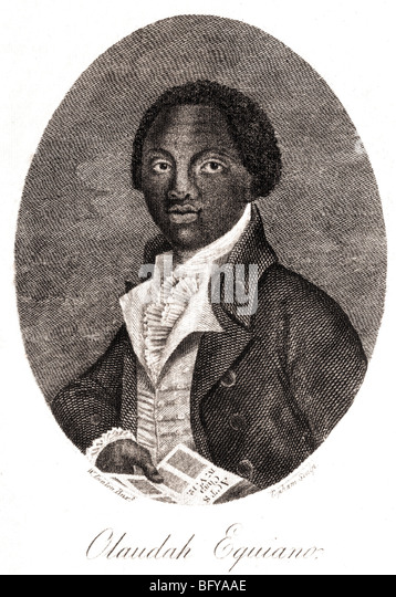 OLAUDAH EQUIANO  aka Gustavus Vassa (1745-1797).  Prominent anti-slavery campaigner after buying his own freedom - Stock Image
