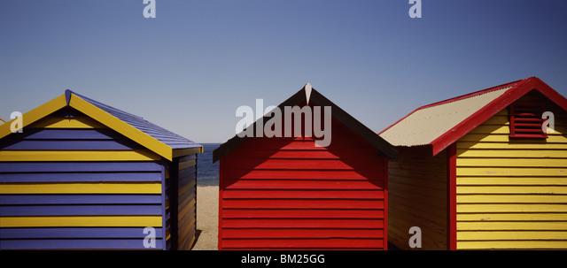 Row of beach huts, Melbourne, Victoria, Australia, Pacific - Stock Image