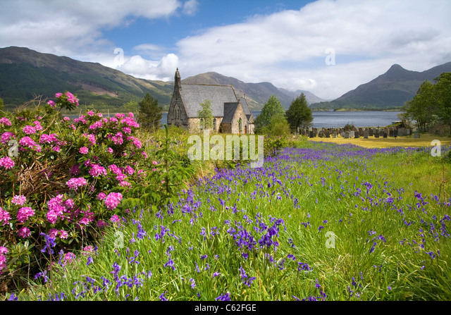 Ballachulish Church, Scotland. - Stock-Bilder