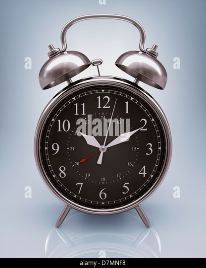 Alarm clock, artwork - Stock Image