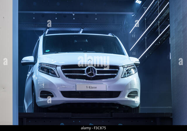 Mercedes Benz V-Class at the IAA International Motor Show 2015 - Stock Image
