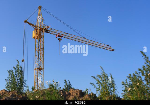 Tower Crane Rescue Procedure : Crane cockpit stock photos images