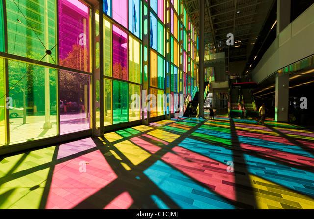 Montreal Convention Center (Palais des congrès). Montreal, Quebec, Canada. - Stock Image