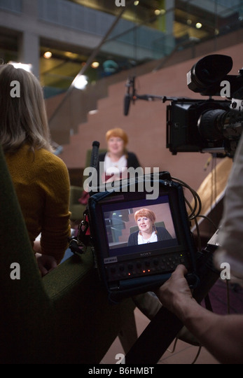 BBC Artworks interview with River City actress Libby McArthur. - Stock-Bilder