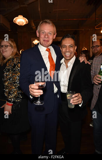 London,UK, 17th Sept 2015 : Martin Clunes and David Bedella attends the Rocky Horror Show Gala Night After Party - Stock Image
