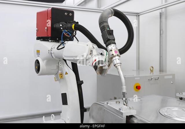 Robot welding - Stock Image