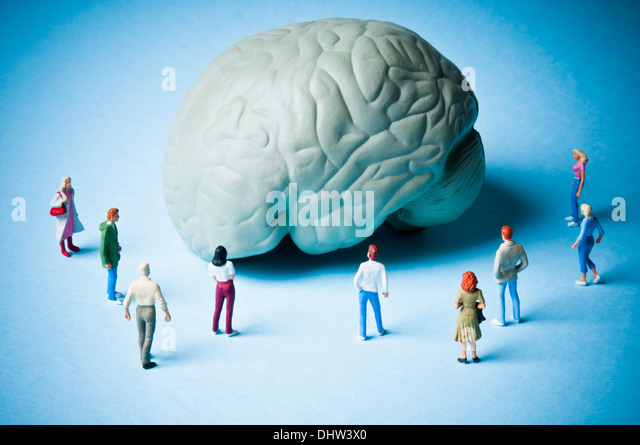 brain diseases and psychology concept - Stock Image