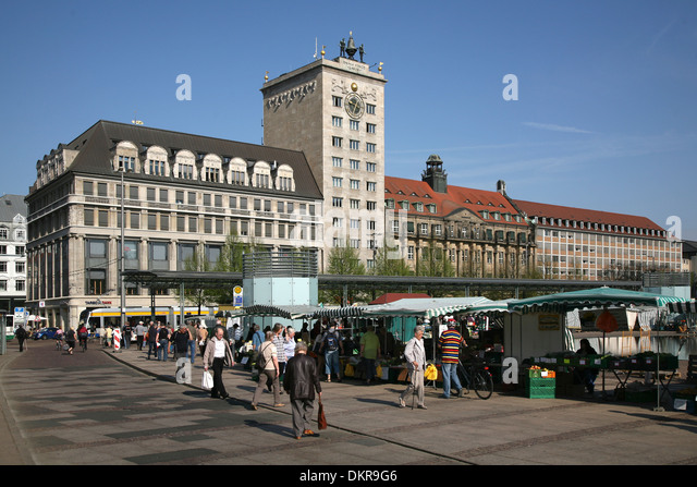 leipzig germany market square stock photos leipzig. Black Bedroom Furniture Sets. Home Design Ideas