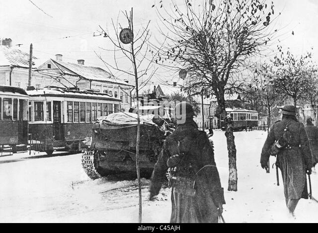 German troops in Kalinin in the mid sector of the Eastern front, 1941 - Stock Image
