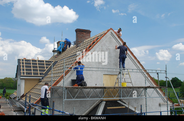 Switching roof - Stock Image