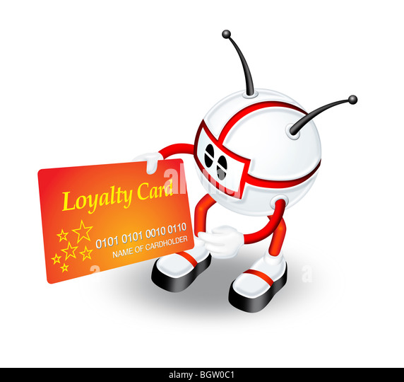 3D character illustration with Loyalty card - Stock Image