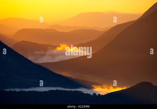 mist swirling, Abruzzo National Park Abruzzo Italy NR - Stock-Bilder