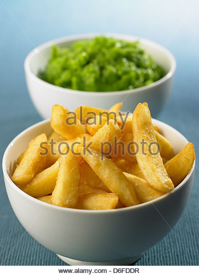 Chips and Peas - Stock Image