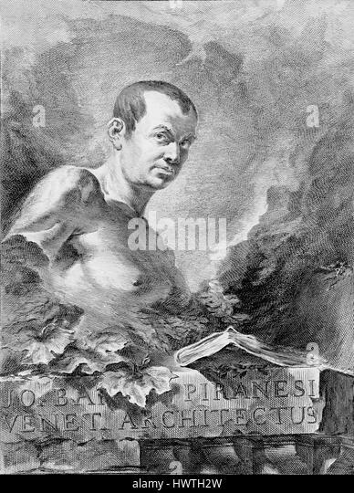 GIOVANNI BATTISTA PIRANESI (1720-1778) Italian artist on the frontespiece of his 1756 book 'Le antichità - Stock-Bilder